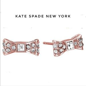 Kate spade rose gold mini bow Stud Earrings